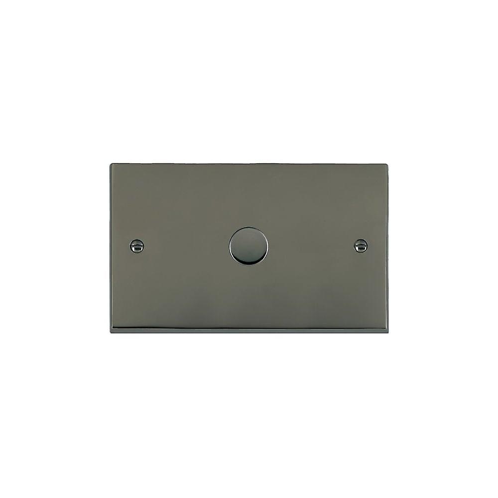 Hamilton Litestat Cheriton Victorian noir Nickel 1g 1000W 2 Way Dimmer BK