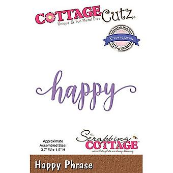 CottageCutz Expressions Plus Die-Happy 3.7