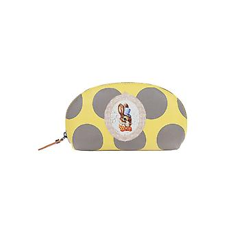 Vivienne Westwood ladies 321200GIALLO yellow leather beauty case