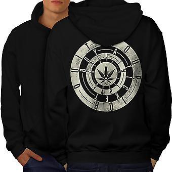 Inspirational Weed Rasta Men BlackHoodie Back | Wellcoda
