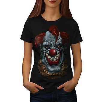Horror raccapricciante Clown spaventoso donne BlackT-camicia | Wellcoda