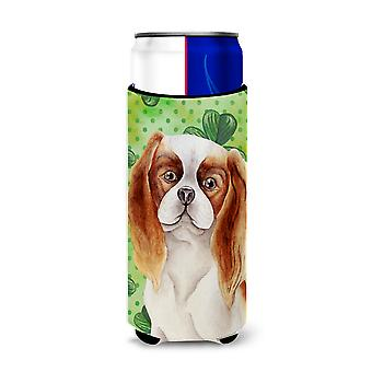 Cavalier Spaniel Shamrocks Michelob Ultra Hugger for slim cans