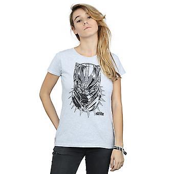 Maravilla pantera negra Spray en la cabeza t-shirt de la mujer