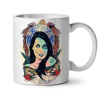Art Girl Dragon NEW White Tea Coffee Ceramic Mug 11 oz | Wellcoda