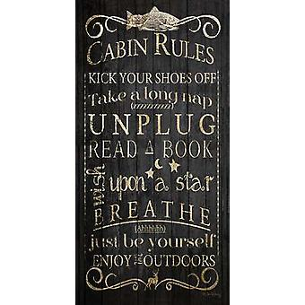Cabin Rules - Unplugged Poster Print (9 x 18)