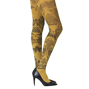 Zohara ZOF405-MB Women's Don't Leave Me Mustard Yellow Fashion Tights