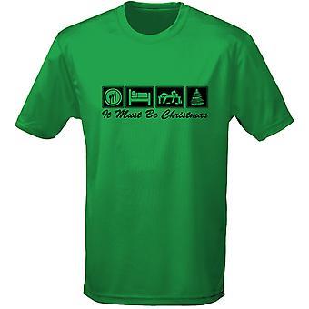 Comer dormir Navidad Navidad para hombre t-shirt para 10 colores (S-3XL) por swagwear