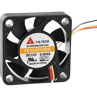 Axial fan 12 Vdc 9 m³/h (L x W x H) 40 x 40 x 10 mm