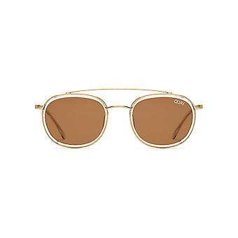 Quay Australia Got It Covered Clear Sunglasses With Brown Lens