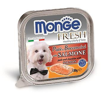 Monge Ns  Wet Paté And Chunkies With Salmon (Dogs , Dog Food , Wet Food)