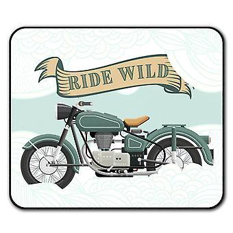 Vintage motorsykkel sklisikre musematte Pad 24 cm x 20 cm   Wellcoda