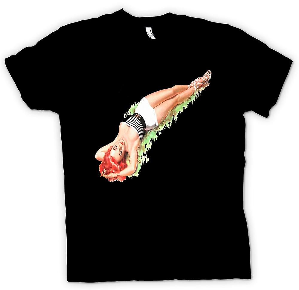 Mens T-shirt - July's Vintage Pinup