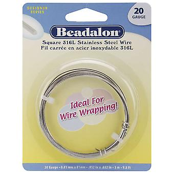 Stainless Steel Wrapping Wire Square 20 Gauge 3 Meters Pkg Ww180 S220