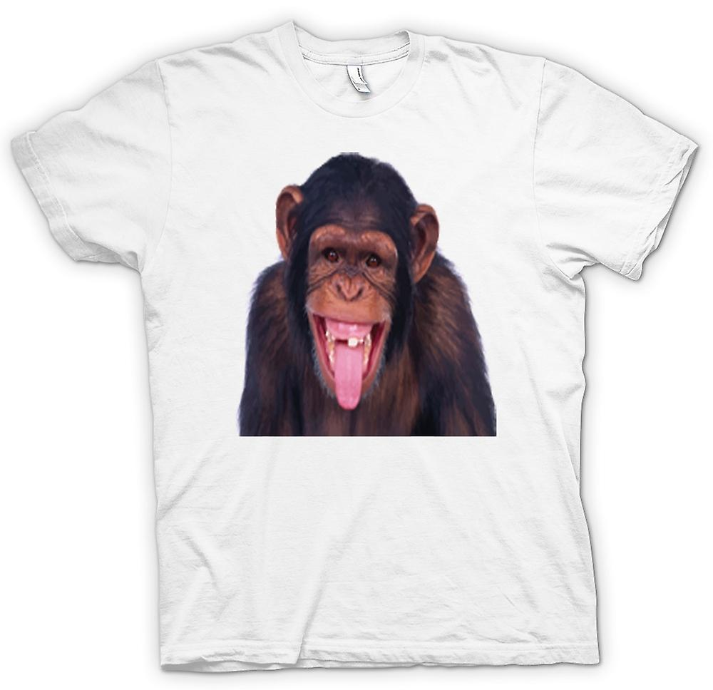 Womens T-shirt - Cheeky Chimp Funny Face