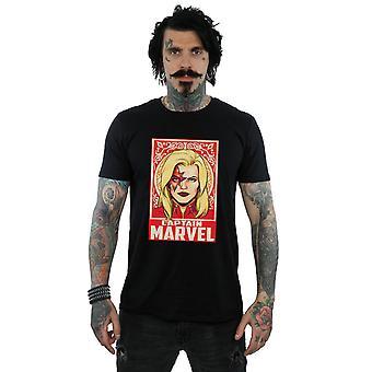 Marvel Men's Captain Marvel Ornament T-Shirt