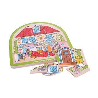 Bigjigs speelgoed huis getoogd puzzel