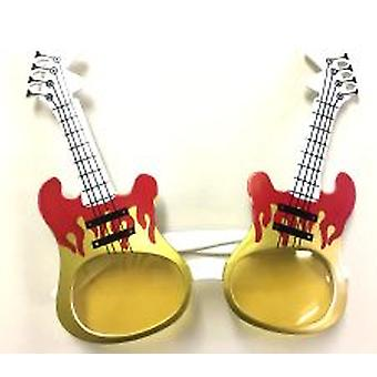 Guitar Glasses - Gold & Red