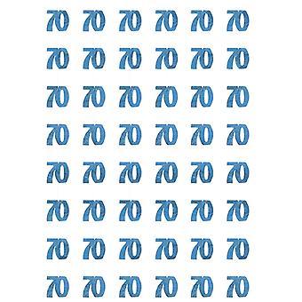 Anniversaire Glitz bleu - 70e anniversaire prisme suspendus décoration