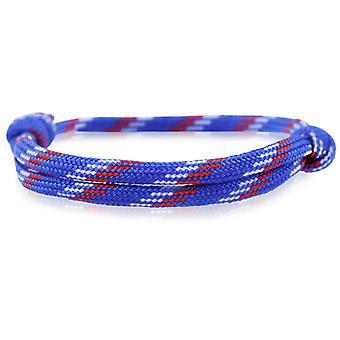 Skipper bracelet surfer band node maritimes bracelet nylon blue/white/red 6856