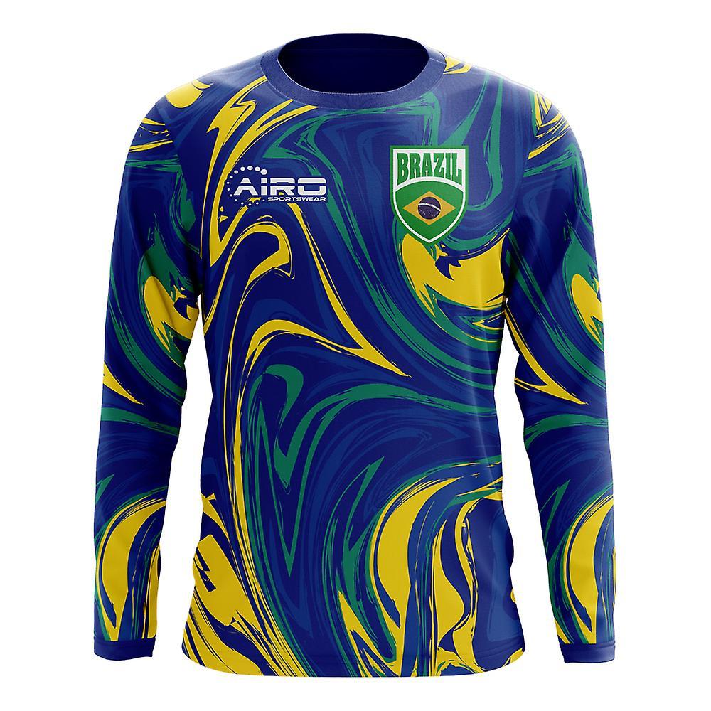 2018-2019 Brésil hommeches longues Away Concept maillot de foot