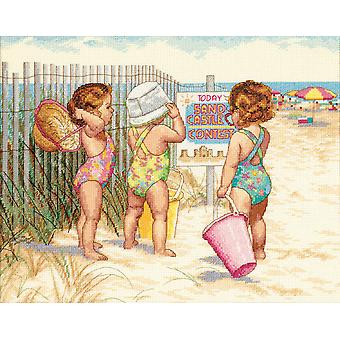 Beach baby's geteld Cross Stitch Kit-14