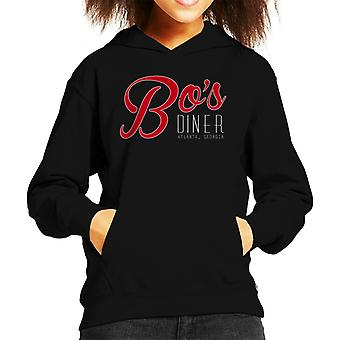 Bos Diner Atlanter Georgia Baby Driver Kid's Hooded Sweatshirt