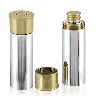 Shotgun Cartridge Pewter and Brass Flask - 4oz