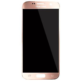 Genuine Samsung Pink S7 G930 LCD Assembly Service Pack