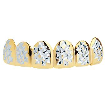 Gold Grillz - One size fits all - Diamond Cut II - Top