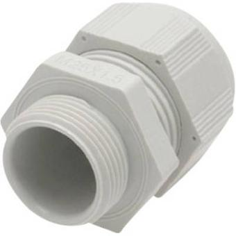 Helukabel HT 93908 Cable gland M12 Polyamide Light grey (RAL 7035) 1 pc(s)