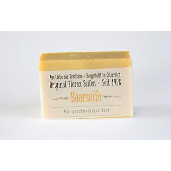 Florex Kaltgerührte sheep's milk hair SOAP with Shea butter and sweet almond oil for smooth well comb hair 100 g piece