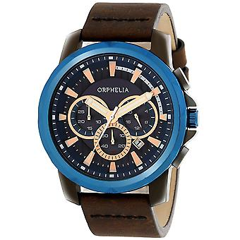 ORPHELIA Mens Chronograph Watch Five senses Brown Leather OR81502