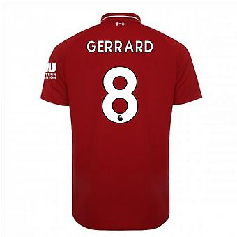 2018-2019 Liverpool Home Football Shirt (Gerrard 8)