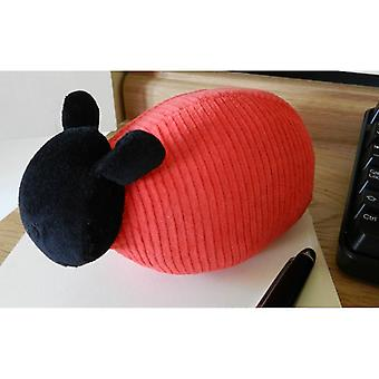 Red Jumbo Cord Sheep Paperweight by Monica Richards