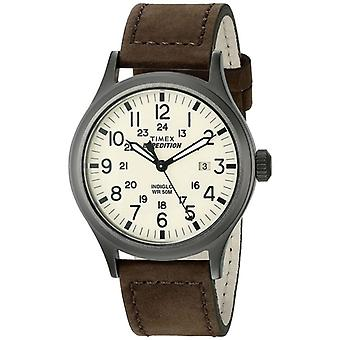 Timex T49963 Expedition Scout Watches with Brown Leather Strap