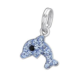 Dolphin - 925 Sterling Silver Charms With Split Ring - W30055x