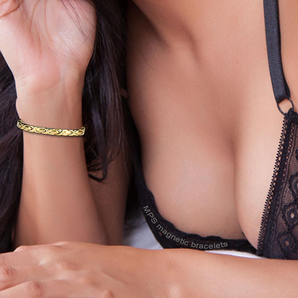 MPS® EUROPE GOLD PL Classic Titanium Magnetic Bracelet + Free Resizing Tool