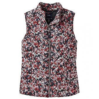 Joules Joules Brindleyprint Womens Printed Chevron Quilted Gilet S/S 19