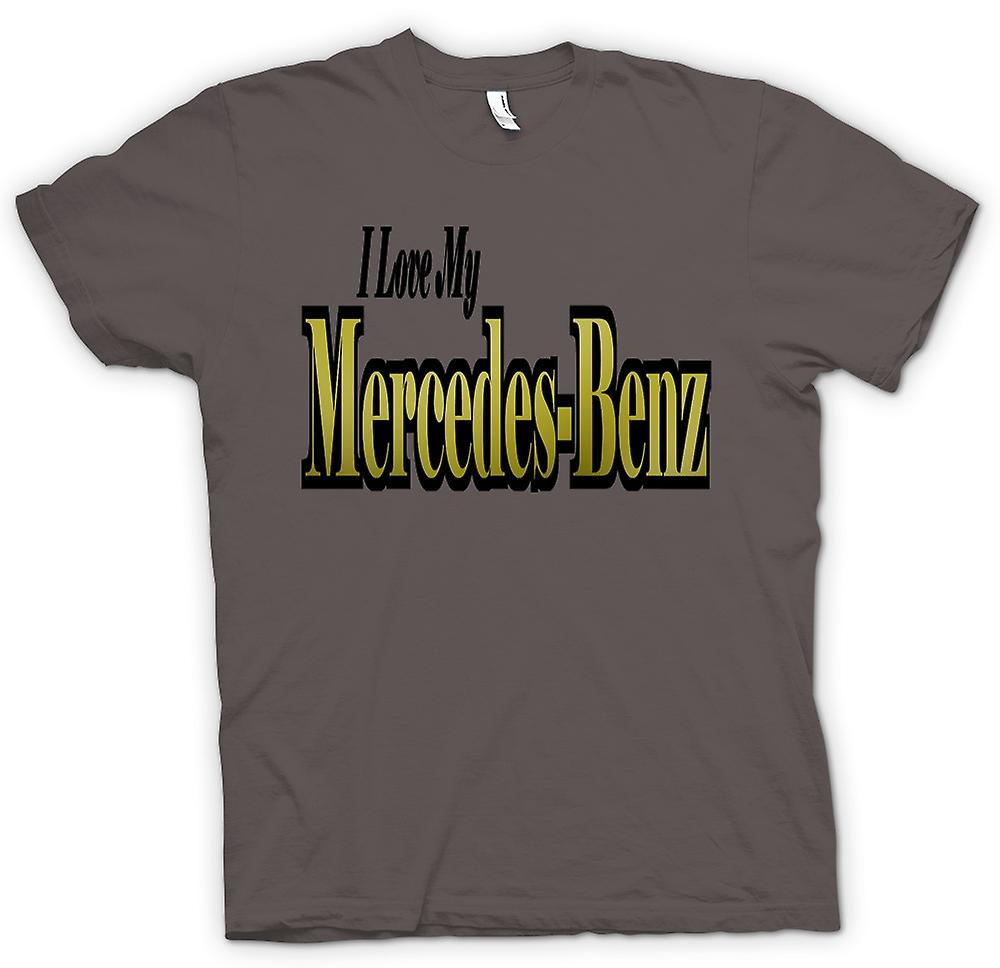 Womens T-shirt - I Love My Mercedes Benz - Car Enthusiast