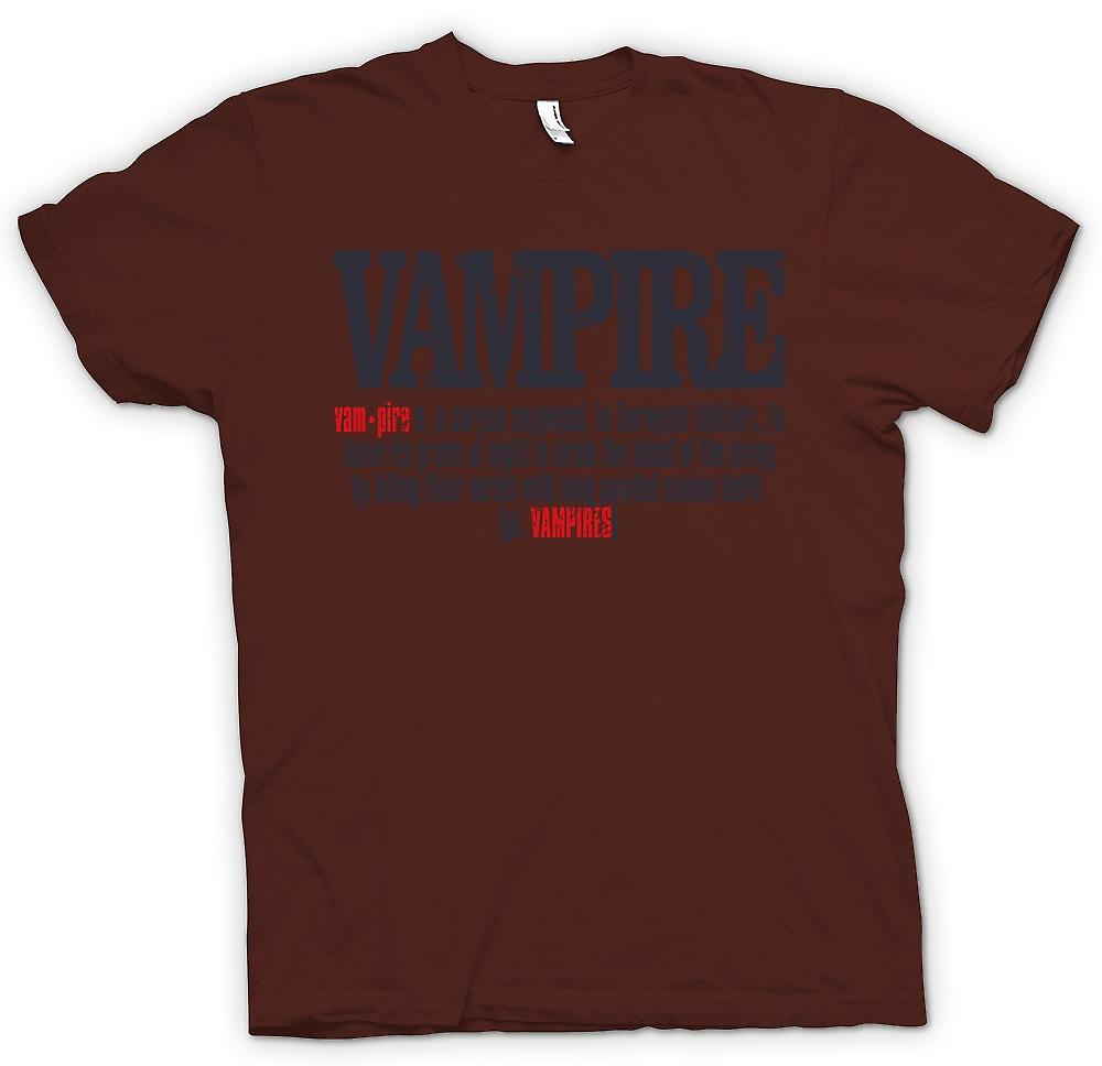 Herr T-shirt - vampyr Definition - Cool Design