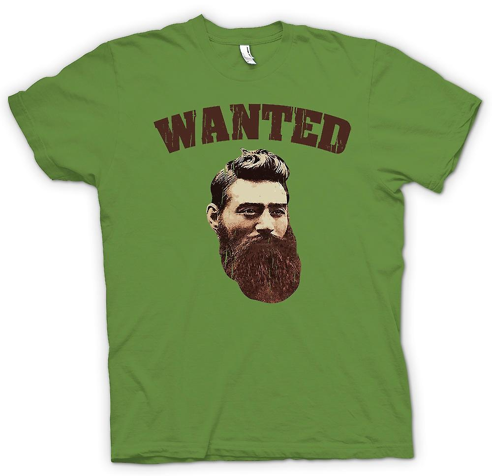 Mens T-shirt - Ned Kelly Old Portrait - Australian Criminal Legend