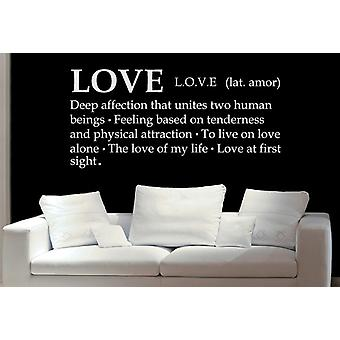 Love Definition Wall Decal