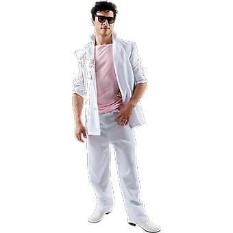 Orion Costumes Mens Miami Vice Pink White Florida Detective 80s Fancy Dress