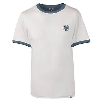 Pretty Green White Badge Retro T-shirt
