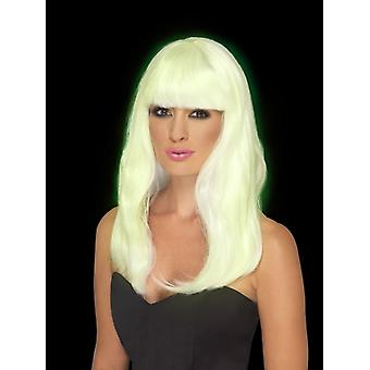 Glam Party Wig, Glow in the Dark Fancy Dress Accessory