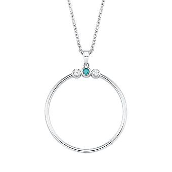 s.Oliver jewel ladies chain necklace silver cubic zirconia 2024295