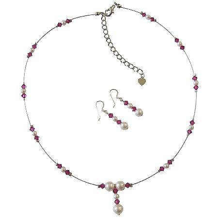 Swarovski White Pearls & Crystals AB Ruby Swarovski Crystals Jewelry