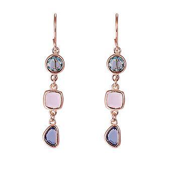Orphelia argent 925 boucles d'oreilles Rose avec pierres multicolores - ZO-7411
