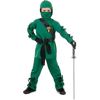 Traje verde Ninja para niños