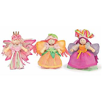 Le Toy Van Traditional Toys Garden Fairy Triple Pack
